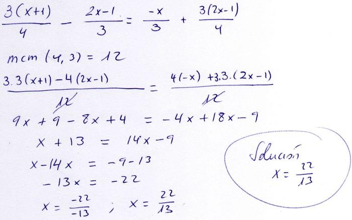 Matemáticas 4º ESO - A - Ecuaciones
